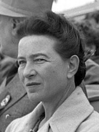 Simone de Beauvoir in Beijing, 1955